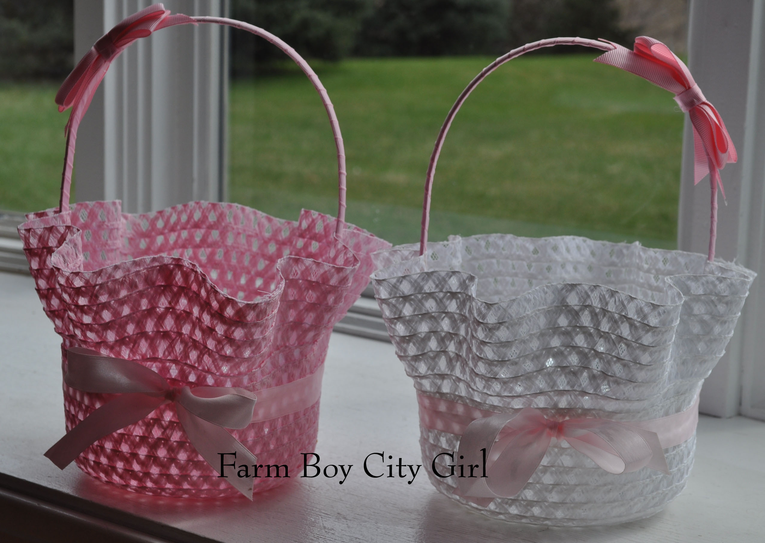 Easter bonnet turned into easter basket for 2 i negle Image collections
