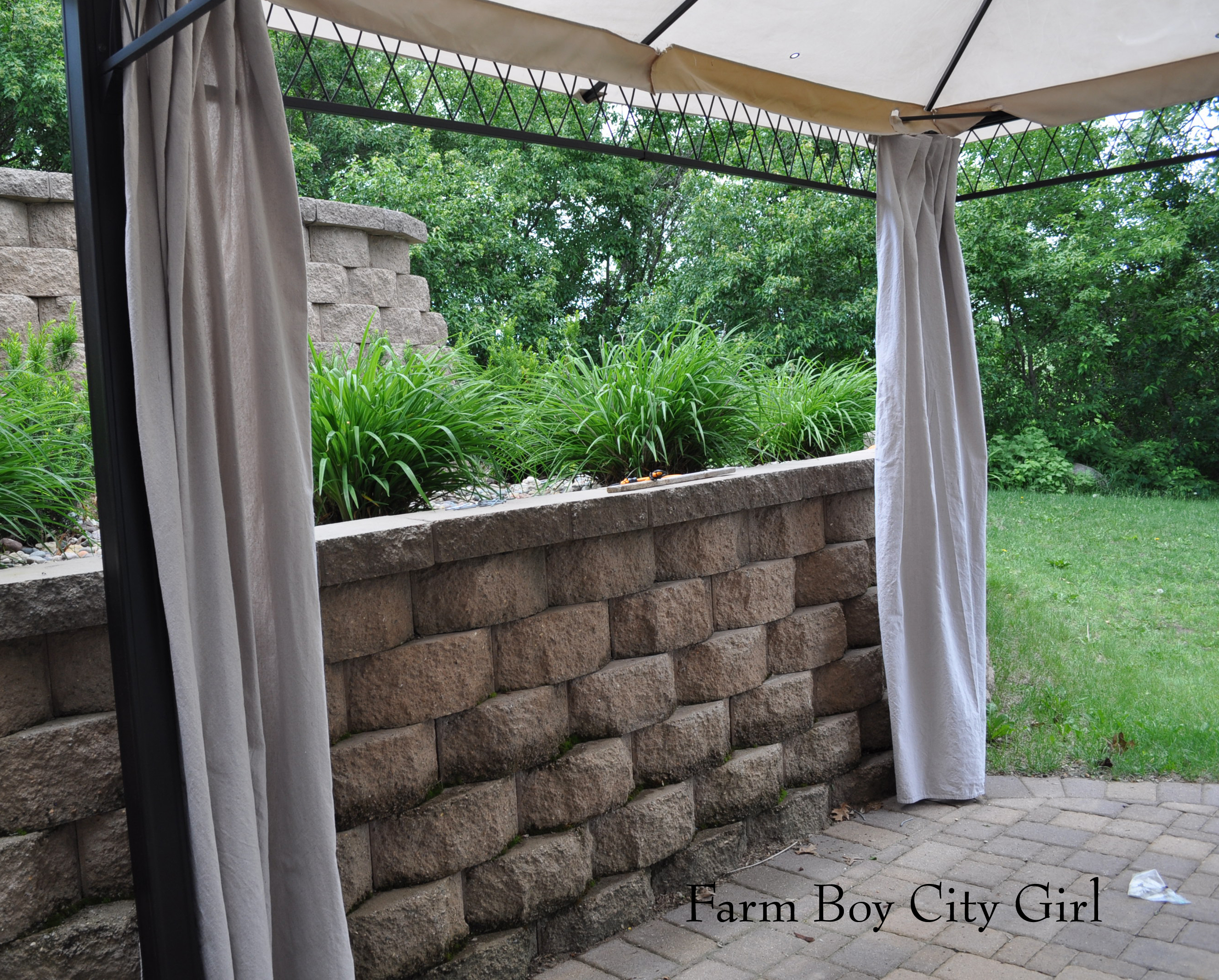 Outdoor curtains drop cloth - My